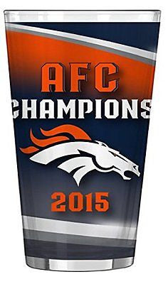 Denver Broncos AFC Champion Pint Glass