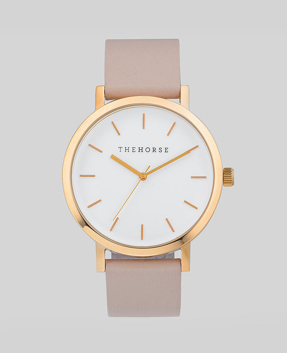 Polished Rose Gold / Blush Leather