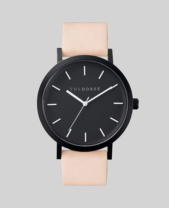 Matte Black / Vegetable Tan Leather