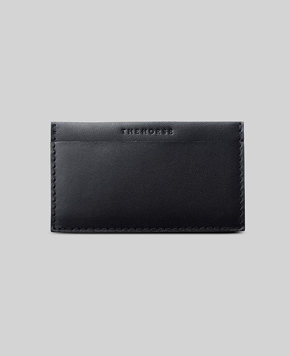Black Two Pocket Card Case