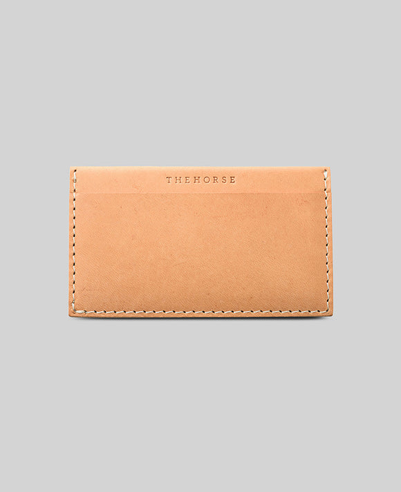 Vegetable Tan Two Pocket Card Case