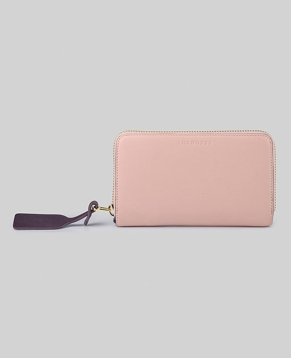 Block Wallet in Blush / Plum