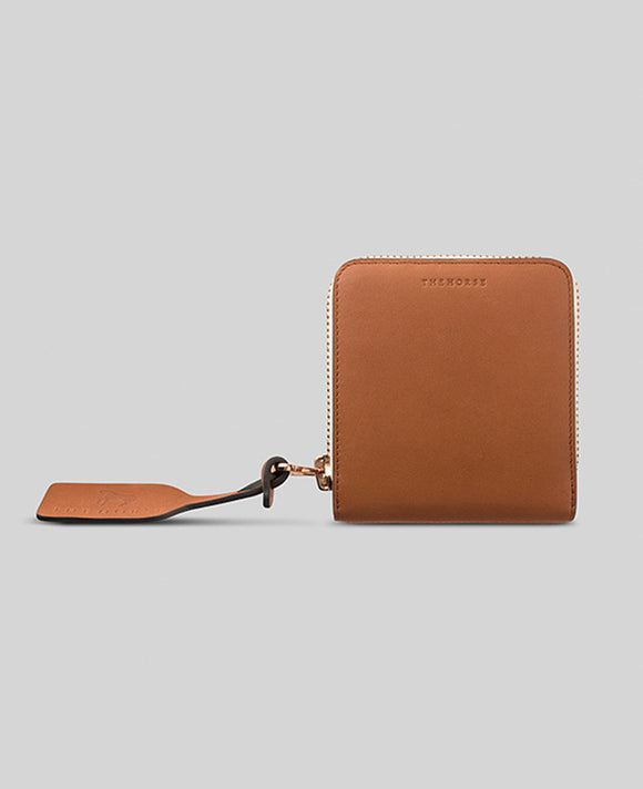 Mini Block Wallet in Tan