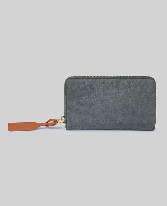 Block Wallet in Moss Green Leather