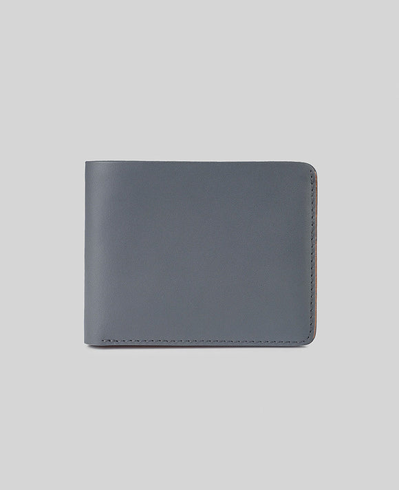 Men's Wallet in Grey Leather