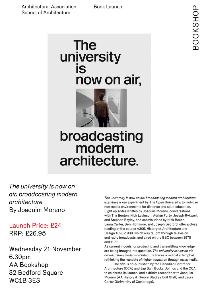 21.11.2018 Book launch The university is now on air, AA Bookshop, London