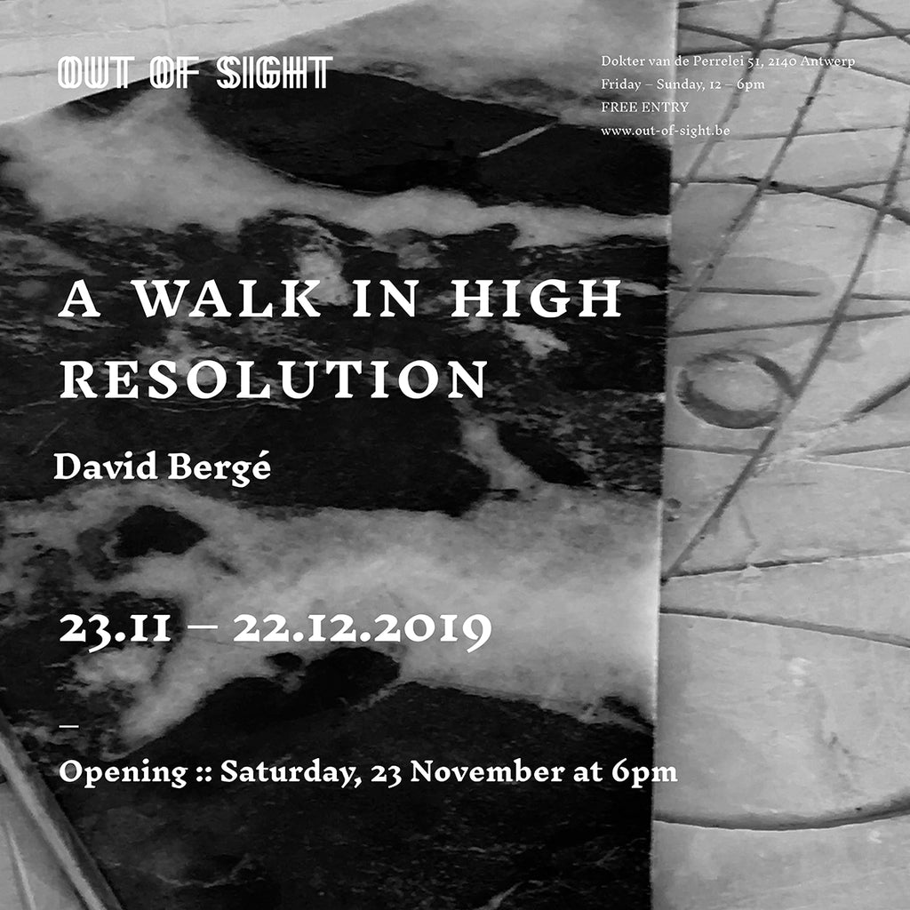 23.11.-22.12.2019 A Walk in High Resolution - David Bergé - Out of Sight Antwerp