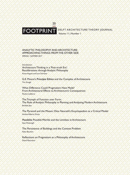 Footprint 20 Analytic Philosophy and Architecture