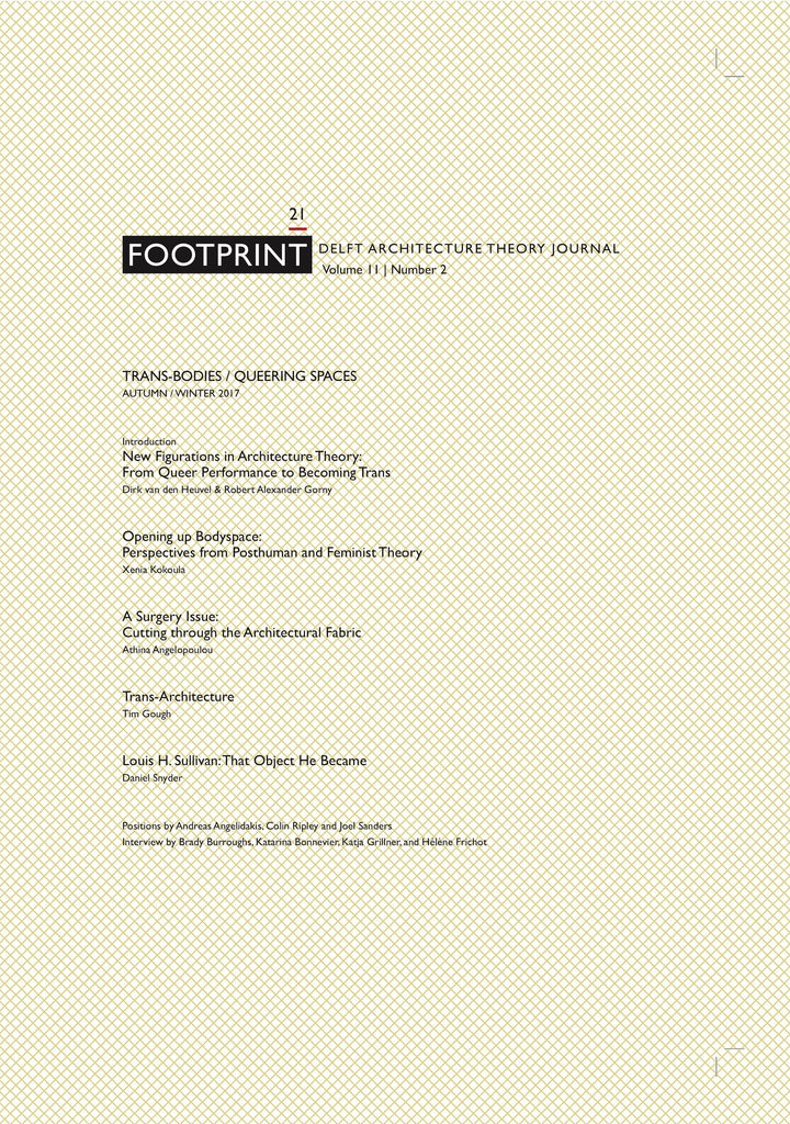 Footprint 21 Trans-Bodies / Queering Spaces