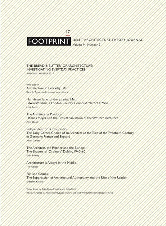 Footprint 17 Vol 9/2 The 'Bread & Butter'of Architecture