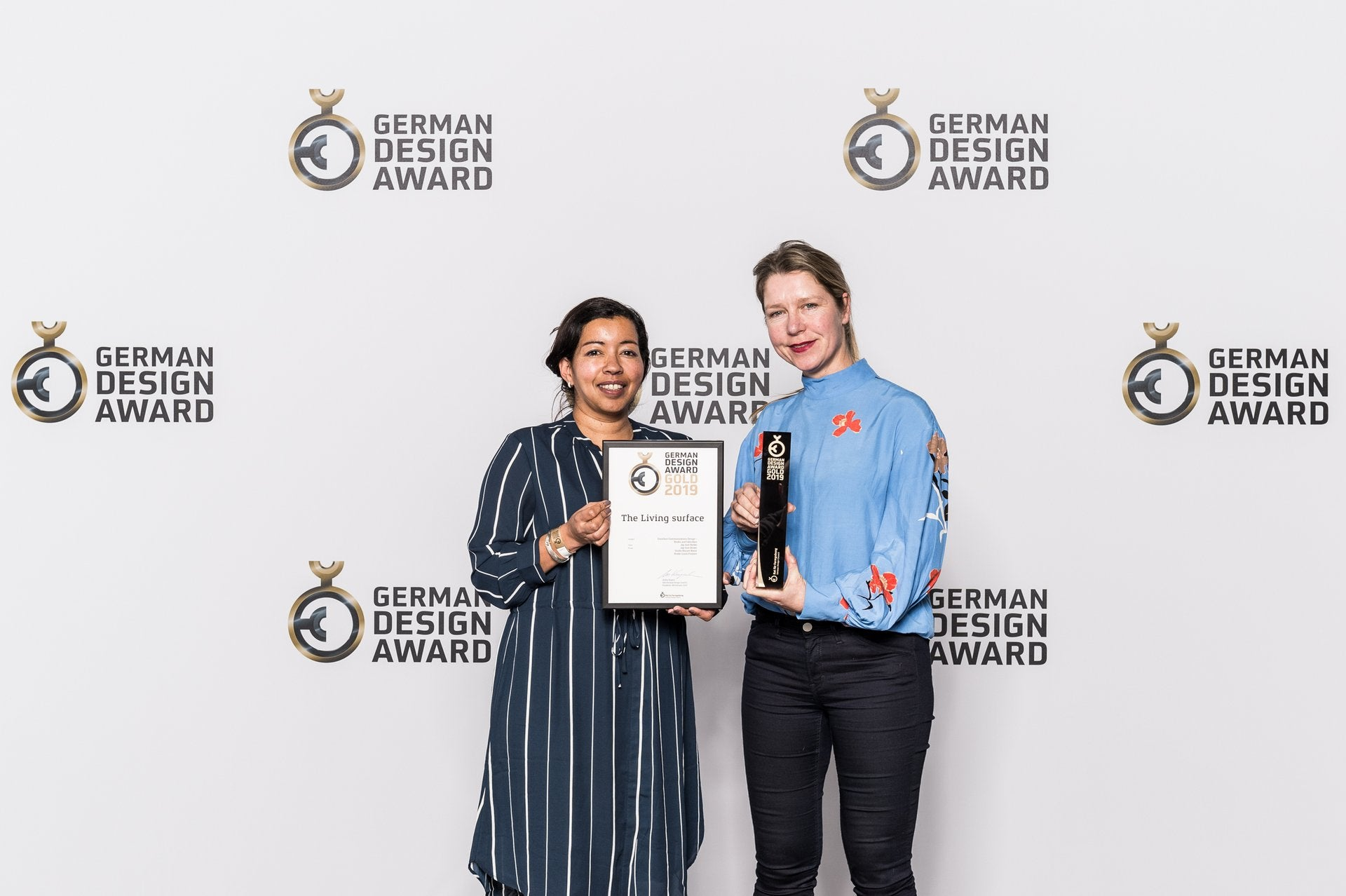 GOLD GERMAN DESIGN AWARD 2019 for The Living Surface