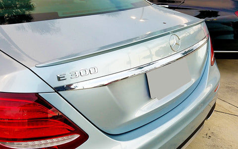Mercedes E Class Sedan Factory Style Lip No Light Spoiler (2017 and Up) - DAR Spoilers