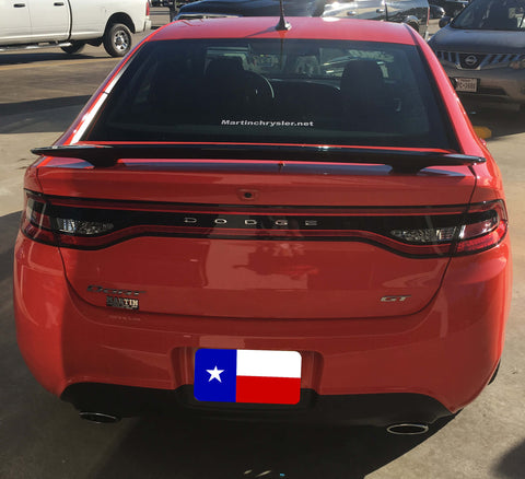 DODGE DART CUSTOM 2POST NO LIGHT SPOILER (2013 AND UP) - DAR Spoilers