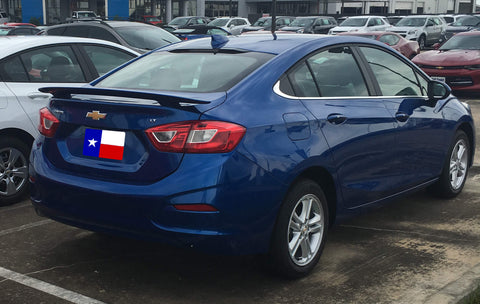CHEVROLET CRUZE CUSTOM 2POST NO LIGHT SPOILER (2016 and UP) - DAR Spoilers