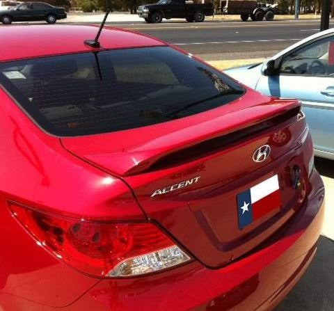 Hyundai Accent 4DR Custom 2Post Lighted Spoiler (2012 and Up) - DAR Spoilers