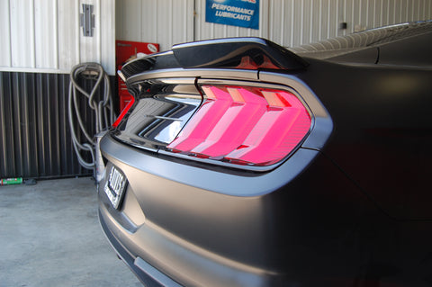 Ford Mustang Custom Lip No Light Spoiler Convertible ONLY (2015 and UP) - DAR Spoilers