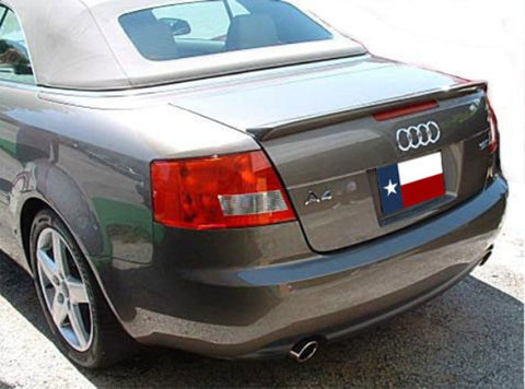 Rear Spoilers - Audi A4 Cabriolet Custom Lip No Light Spoiler (2006 And UP)