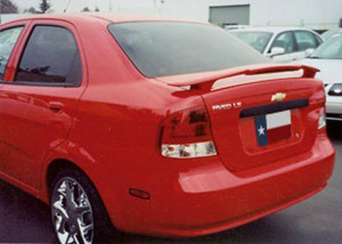 Rear Spoilers - Chevrolet Aveo Sedan Custom Post Lighted Spoiler (2004-2006)