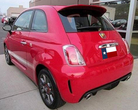 Fiat 500 (Large) Factory Roof No Light Spoiler (2012 and UP) - DAR Spoilers