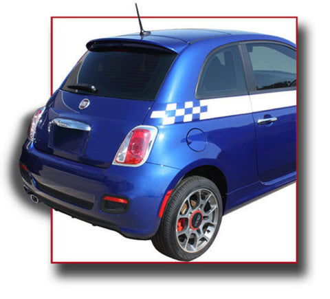 Fiat 500 (Small) Factory Roof No Light Spoiler (2012 and UP) - DAR Spoilers