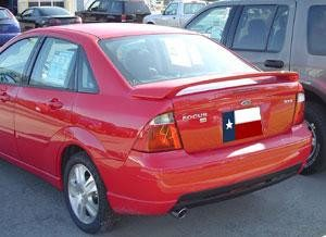 Rear Spoilers - Ford Focus 4-Dr Factory Post No Light Spoiler (2000-2007)