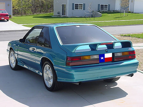 "Ford Mustang Hatchback ""Cobra Style"" Factory 4Post W/Cutout Spoiler (1979-1993) - DAR Spoilers"