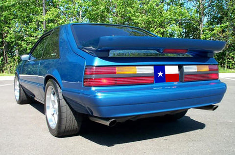 "Rear Spoilers - Ford Mustang Hatchback ""Saleen Style"" Factory 2Post W/Cutout Spoiler (1979-1993)"