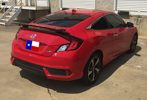 "Honda Civic 2Dr ""SI"" Factory 2Post No Light Spoiler (2016 and UP) - DAR Spoilers"