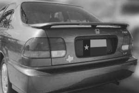 Rear Spoilers - Honda Civic 4Dr Factory 3Post Lighted Spoiler (1996-2000)