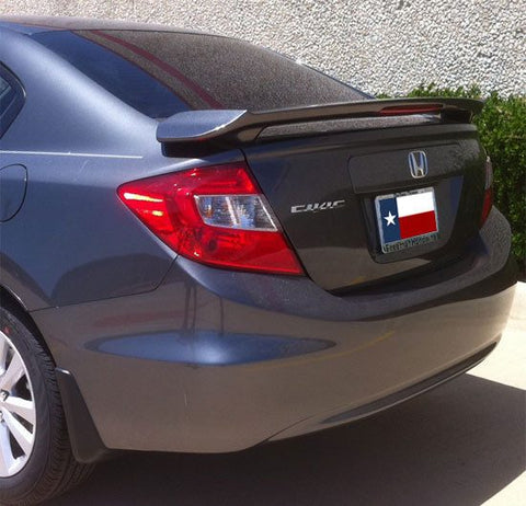 Honda Civic 4Dr Factory Post Lighted Spoiler (2012-2015) - DAR Spoilers