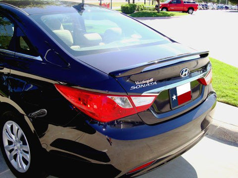 Rear Spoilers - Hyundai Sonata Custom Post No Light Spoiler (2011-2014)