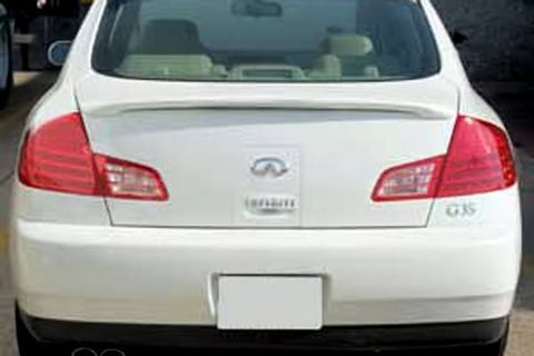 Rear Spoilers - Infiniti G35 Sedan Custom Lip No Light Spoiler (2003-2006)