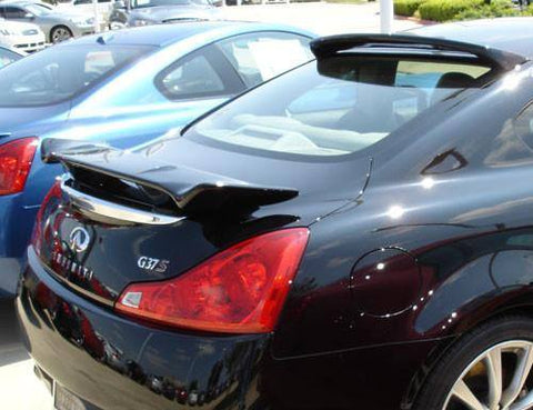 Rear Spoilers - Infiniti G37 Coupe Custom Post No Light Spoiler (2008 And UP)