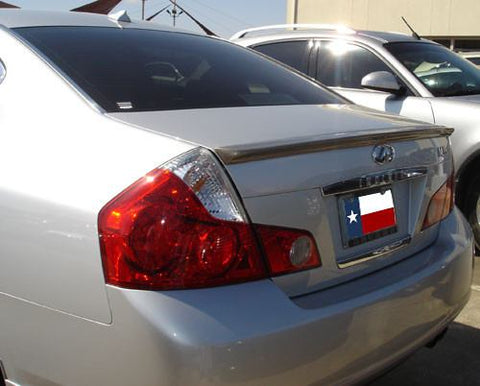 Rear Spoilers - Infiniti M35/M45 (Small) Custom Lip No Light Spoiler (2008-2010)