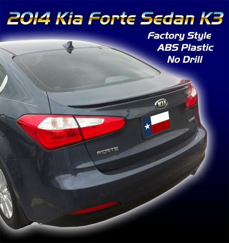 Kia Forte Sedan K3 Factory Flush No Light Spoiler (2014 and UP) - DAR Spoilers