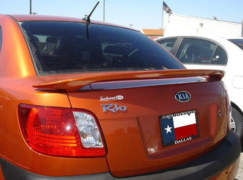 Kia Rio 4-Dr Factory Post Lighted Spoiler (2008-2011) - DAR Spoilers