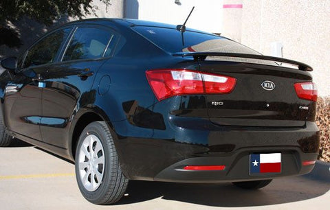 Kia Rio Sedan Custom Post No Light Spoiler (2012 and UP) - DAR Spoilers