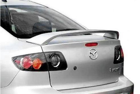 Mazda 3 Sedan Factory Post No Light Spoiler (2004-2009) - DAR Spoilers