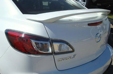 Mazda 3 Sedan Factory Post No Light Spoiler (2010-2013) - DAR Spoilers
