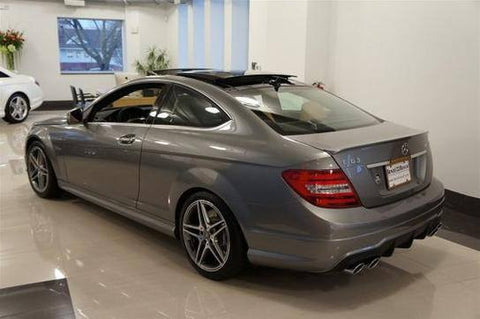 Mercedes C Class Coupe Factory Lip No Light Spoiler (2012-2015) - DAR Spoilers
