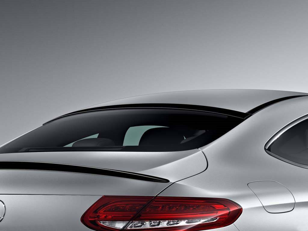 mercedes c class coupe factory window no light spoiler. Black Bedroom Furniture Sets. Home Design Ideas