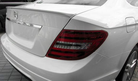 Mercedes C Class Sedan Custom Lip No Light Spoiler (2008-2014) - DAR Spoilers