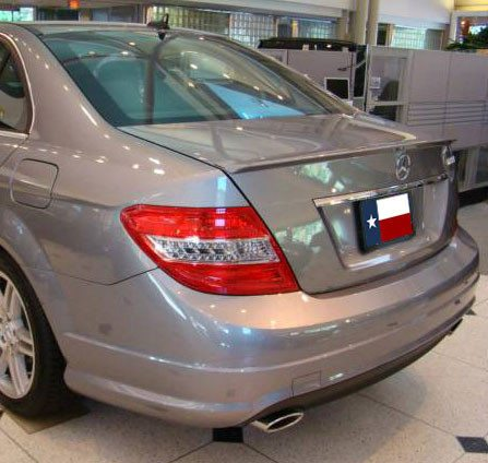 Mercedes C Class Sedan Factory Lip No Light Spoiler (2008-2014) - DAR Spoilers