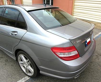 Mercedes C Class Sedan Factory Window Spoiler (2008-2014) - DAR Spoilers