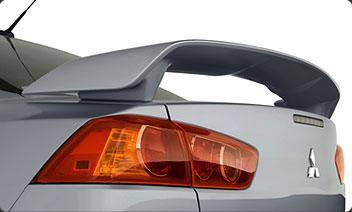 Mitsubishi Lancer Factory Post No Light Spoiler (2008 and UP) - DAR Spoilers
