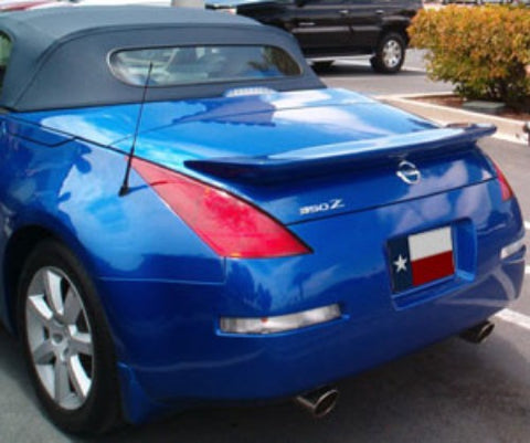 Rear Spoilers - Nissan 350Z Roadster Aggressive Custom Flush No Light Spoiler (2003-2009)