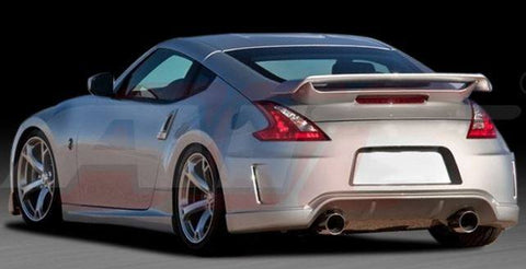Nissan 370Z Coupe Racing Style Factory Flush No Light Spoiler (2009 and UP) - DAR Spoilers