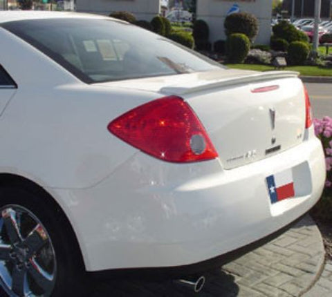 Pontiac G6 4-Dr Factory Lip No Light Spoiler (2005-2010) - DAR Spoilers