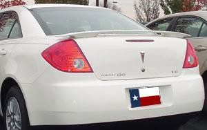 Rear Spoilers - Pontiac G6 Sedan Custom Post No Light Spoiler (2005-2010)