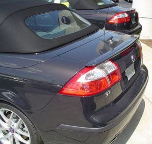 Saab 9.3 Convertible Factory Lip No Light Spoiler (2004 and UP) - DAR Spoilers